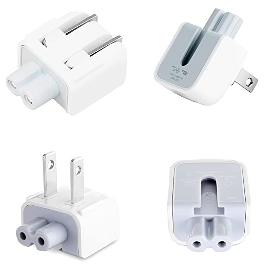 Mac AC Wall Adapter Plug Duckhead US Wall Charger AC Cord US Standard Duck Head for MacBook Mac iBook/iPhone/iPod AC Power Adapter Brick (2 PCs)