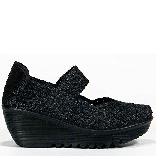 Bernie Mev Womens Lulia Casual Shoe Black Metallic Size 38 EU (7 M US Women)