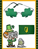 St. Patricks Day Green Shamrock Irish Clover Sunglasses