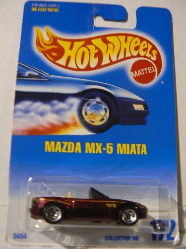 Hot Wheels Mazda MX-5 Miata Brown with 5 Spoke Wheels #172 ()