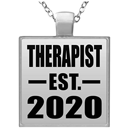 Therapist Established EST. 2020 - Square Necklace Collar ...