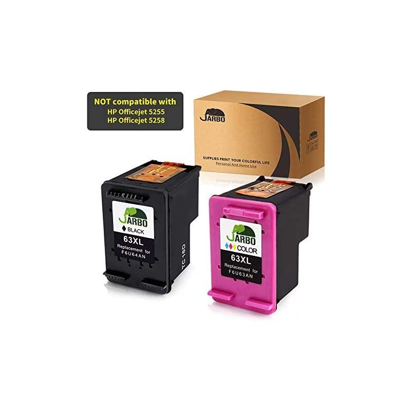 JARBO Remanufactured for HP 63XL Ink Car