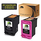 JARBO Remanufactured for HP 63XL Ink Cartridges High Yield, 1 Black+1 Tri-Color, with Ink Level Display, Used in HP Envy 4520 4516 Officejet 4650 3830 3831 4655 Deskjet 2130 2132 1112 3630 3633 3634