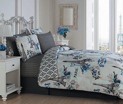 Avondale Manor Cherie 8-piece Comforter Set King, Blue -