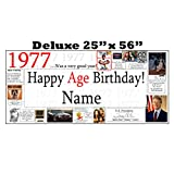 1977 DELUXE PERSONALIZED BANNER by Partypro