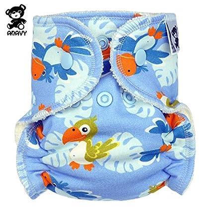 Newborn Anavy H/öschenwindeln Papagei 2-6 kg Gr/ö/ße Klettverschluss