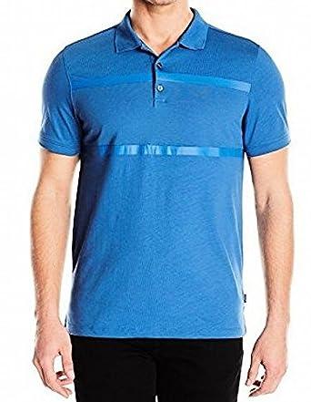 Calvin Klein Hombres Camisa Polo - Azul -: Amazon.es: Ropa y ...