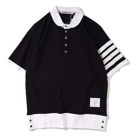 J-TUMIA-D Camiseta Casual para Hombre Camisa Polo de Color Liso ...
