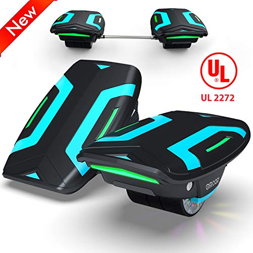 """Magic hover Electric Roller Skate Hover Board with LED Lights,300W Dual Motor Self Balancing Scooter for Kids and Adults,Hovershoes Drift X1,3.5"""" Freeline Skate,12km/h Max Speed"""