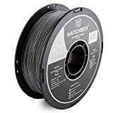 HATCHBOX 3D PLA-1KG1.75-SLV PLA 3D Printer Filament, Dimensional Accuracy +/- 0.05 mm, 1 kg Spool, 1.75 mm, Silver