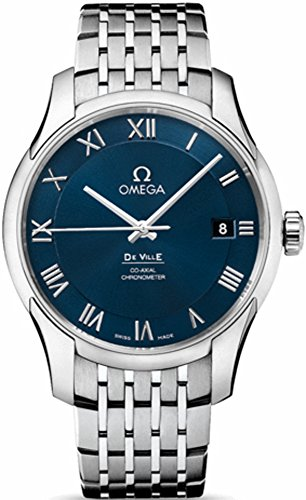 Omega De Ville Co-Axial Chronometer Blue Dial Stainless Steel Mens Watch 43110412103001