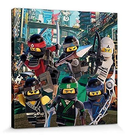 NYA Kai Leinwandbild Auf Keilrahmen 30 x 30 cm Zane Jay 1art1 106991 The Lego Ninjago Movie Lloyd Charaktere Cole