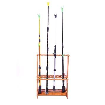 Amazon.com: Jitnetiy - Soporte para caña de pescar de bambú ...