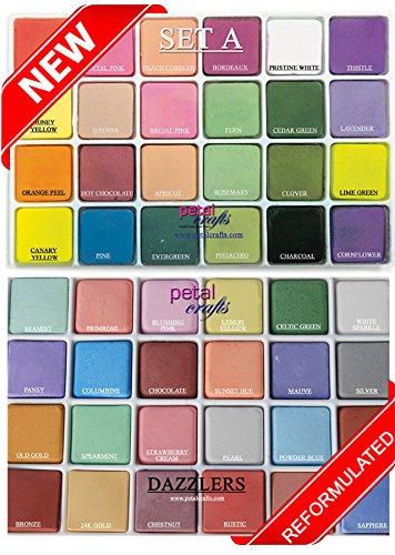 PETAL CRAFTS Palette Dust Set 24 Matte Colors & 24 Dazzler Colors (48 - Petal Craft