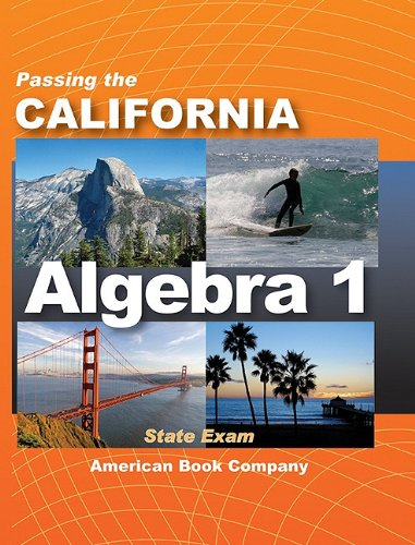 Passing the California Algebra 1 State Exam pdf epub