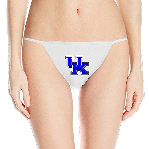 University Of Kentucky UK Sexy Women Adjustable G-string Thong Underwear (Kentucky Thong For Women)