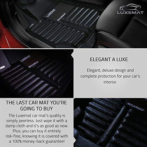 Waterproof /& Dirt Proof Luxemat Custom All Weather 5D Car Mat for 2014-18 Nissan Rogue Better Than Rubber Car Mat Canzhou Eco-Friendly /& Easy to Clean | Anti-Slip Auto Flooring Black