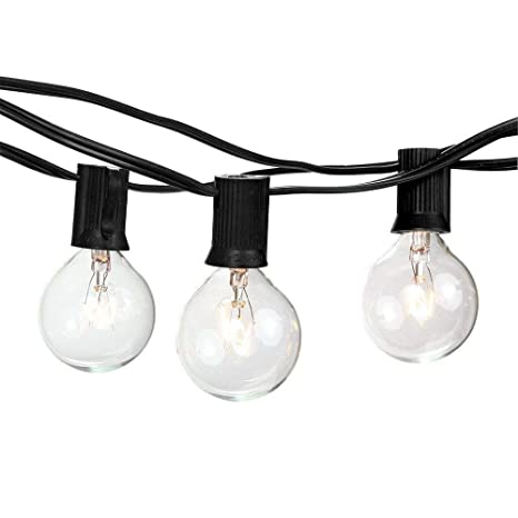 amazon com goothy globe holiday string lights with g40 bulbs 50ft