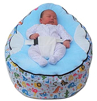 Surprising Extra Large Baby Bean Bag With Adjustable Safety Harness 2 Removeable Covers Uk Seller Machost Co Dining Chair Design Ideas Machostcouk
