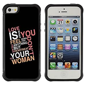 Suave TPU GEL Carcasa Funda Silicona Blando Estuche Caso de protección (para) Apple Iphone 5 / 5S / CECELL Phone case / / Love Is What You Feel /