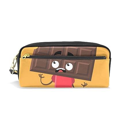 Estuche para lápices de chocolate con dibujos animados divertidos ...