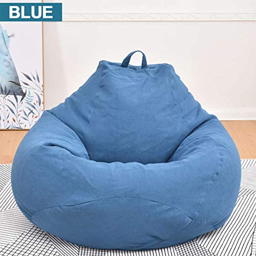 - Small Lazy Puff Sofas Cover Chairs No Filling Linen Fabric Sofa Seat Bag Bean PUF Puff Sofa Tatami Living Room S/M/XL Three Sizes,2,M