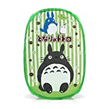 Finex My Neighbor TOTORO Green Collapsible Pop Up Laundry Mesh Hamper Foldable Clothes Storgae Basket for bathroom dorm kids nursery Portable with Handles