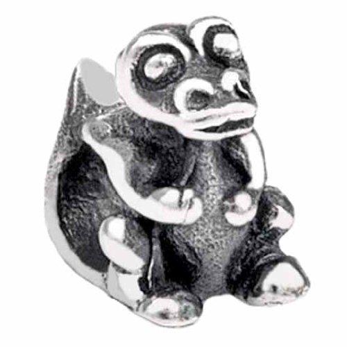 (Silverado Kidz Silver Snap Crocodile Bead Charm for Kids)