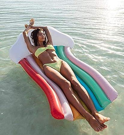 Gupamiga Colchoneta Hinchable Piscina Flotador, Hinchables Juguete Piscina Inflable Flotador para Adultos y Ni?os Hinchables para Piscina Flotador ...