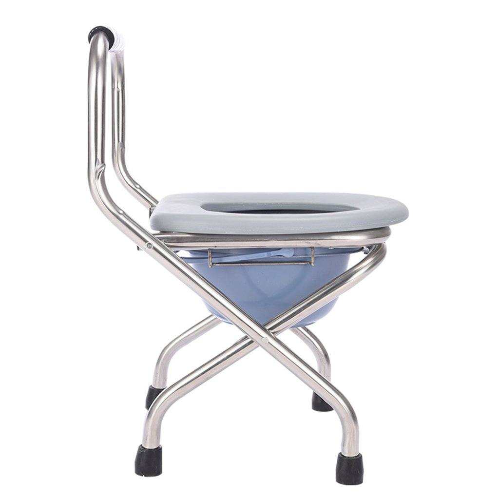 無料配達 GRJH® トイレ付き椅子、折りたたみ式トイレ妊婦浴室椅子バスルームステンレススチール製トイレチェア GRJH® 防水,環境の快適さ B07999M9ND B07999M9ND, お部屋飾りのサポーターサンセイ:8ab73d46 --- dstfox.com.br