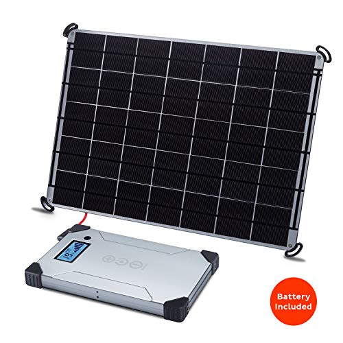 - Voltaic Systems 17 Watt Rapid Solar Panel Charger for Laptops (Including MacBooks with an Adapter) | Includes a Battery Pack (Power Bank) and 2 Year Warranty - Silver