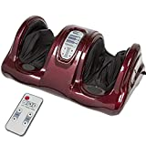 Best Choice Products Therapeutic Kneading and Rolling Shiatsu Foot Massager for Foot, Ankle, Nerve Pain w/ High Intensity Rollers, Remote Control, 4 Programs, 3 Massage Modes - Burgundy