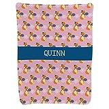 Personalized Tennis Baby & Infant Blanket | Custom Name Fox Pattern | Light