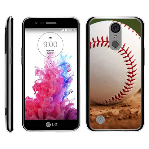 TurtleArmor | Compatible for LG K20 V Case | K20 Plus Case | K10 2017 [Flexible Armor] Resistant Slim Fit Flexible TPU Case Soft Bumper Cover Sports and Games Design - Baseball Dirt ()