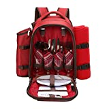 apollo walker 4 Person Red Picnic Backpack with