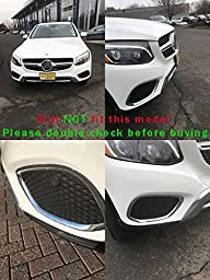 Generic Chrome Front Corner Mesh Grill Molding Cover Trim Fit For Mercedes Benz GLC GLC300 2016 2017