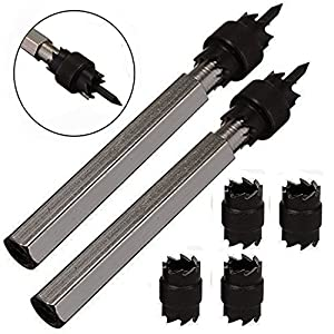 """Zinger Spot Weld Cutter, 2 Pack of 3/8"""" Rotary Spot Weld Cutter Remover Drill Bits Tool+ 4 Double Sided Replacement Blades"""