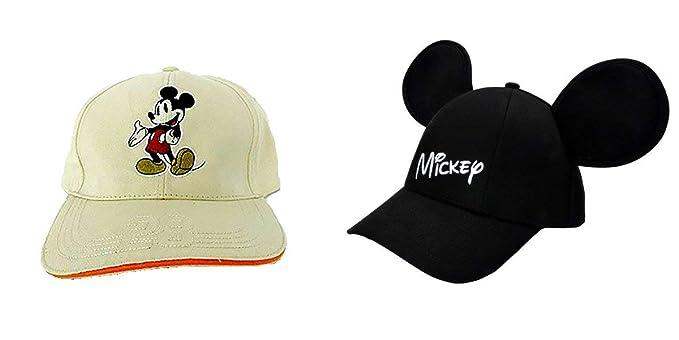 Disney - Gorra de Mickey (2 Unidades), Color Negro: Amazon.es ...