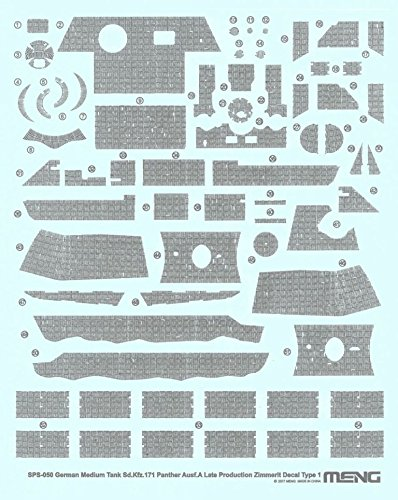 Panther Type 35 (Meng 1:35 Sd.Kfz.171 Panther Ausf A Late Zimmerit Decal Sheet Type 1 #SPS050)