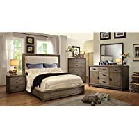 247SHOPATHOME Idf-7615EK-6PC Bedroom-Furniture-Sets, King, Oak