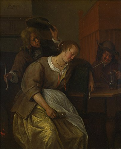 Oil Painting 'Jan Steen A Man Blowing Smoke At Drunken Woman', 30 x 37 inch / 76 x 94 cm , on High Definition HD canvas prints is for Gifts - Sunglasses Peter Jones