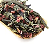 Tao Tea Leaf Organic Raspberry Green tea, 50g Premium Loose Tea Blend