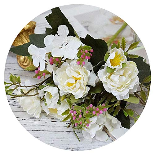 Artificial Flowers for Artificial Flowers Rose Silk Flowers Bouquet Small Peony Fake Flowers Faux Flores Wedding Home Decoration Valentine's -