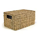 The Lucky Clover Trading Classic Braided Seagrass Basket with Lid