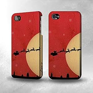 Apple iPhone 4 / 4S Case - The Best 3D Full Wrap iPhone Case - Santa Claus Xmas