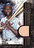 2016 Topps Tier One Relic Legends #T1RL-HA Hank Aaron Game Used Bat Baseball Card – Only 75 made!