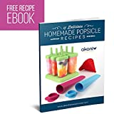 Ultimate Popsicle Molds Set - Colourful Six-piece BPA Free Ice Pop Maker PLUS Silicone Popsicle Molds And FREE Loading Funnel - BONUS Recipe eBook