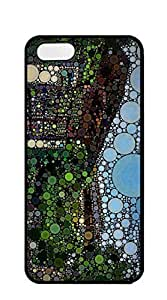 Custom Personalized Circles Art hard PC For HTC One M8 Phone Case Cover golden