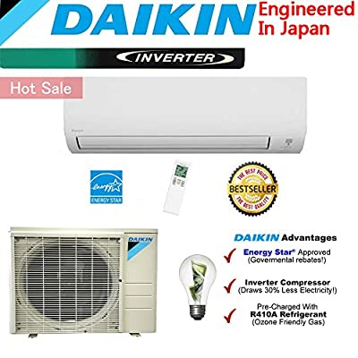 Daikin 12,000 BTU Ductless Mini Split Air Conditioner 2015 / High Efficiency / High Energy Saving / High Seer Inverter Air Conditioner Heating, Cooling, Dehumidification, Ventilation 1 TON