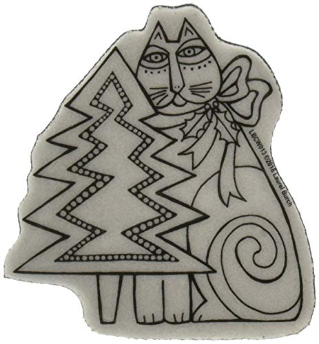 Stampendous Cling Rubber Stamp, Feline Christmas ()